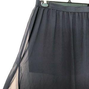 Navy HM maxi skirt